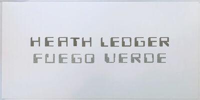 Miguel Angel Rojas, 'Serie Nupcias: Heath Ledger, Fuego Verde', 2018