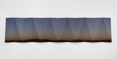 Letha Wilson, 'Nevada Moonrise Metal Fold', 2018