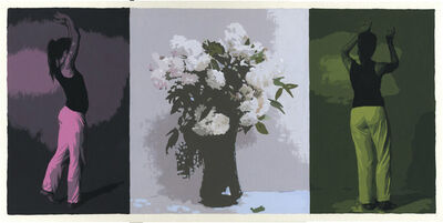 Sean Cain, 'Triptych with Dancing Figures and Fantin-Latour Still Life', 2017