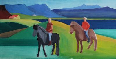 Louisa Matthíasdóttir, 'Two Riders', ca. 1990