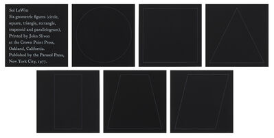 Sol LeWitt, 'Six Geometric Figures', 1977