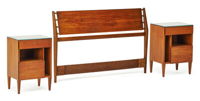 Gio Ponti, 'Pair of nightstands and headboard, New York', mid 20th C.
