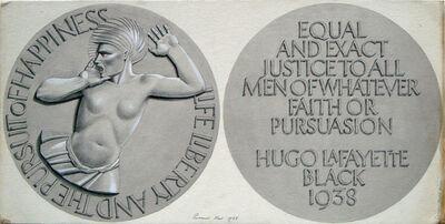 Rockwell Kent, 'Medal Design for Justice Hugo Black', 1938