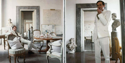 Horst P. Horst, 'Cy Twombly in Rome 1966 - Untitled #4 and Untitled #11, Diptych', 1966