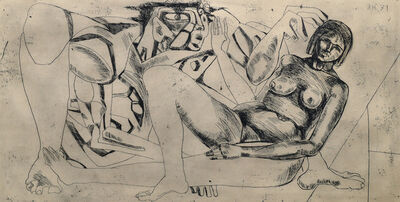 Ernst Neizvestny, 'Reclining woman', 1971