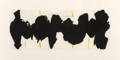 Robert Motherwell, 'Running Elegy II, Yellow State', 1983