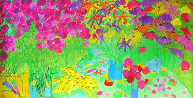 Walasse Ting 丁雄泉, 'Dazzling Garden春色滿園', 1990-1999