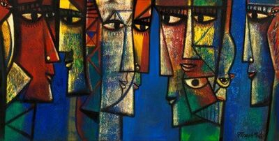 Paresh Maity, 'Faces of light', 2014