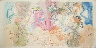 Larry Rivers, 'East Thirteenth Street Jazz Band, Original Album Art', 1983