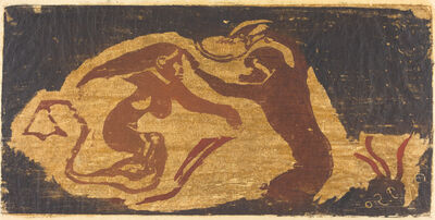 Paul Gauguin, 'The Mermaid and the Monkey'