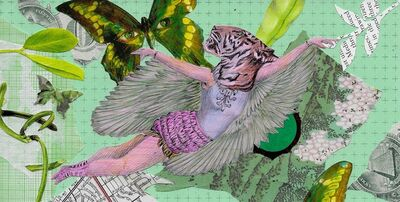 Lori Field, 'Flying Tiger Cupid', 2021
