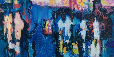 Vlad Yurashko, 'Figures in a night forest', 2015-2016