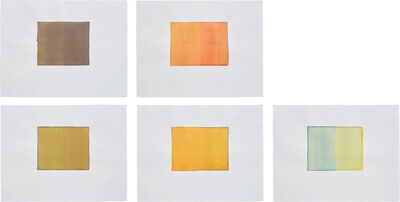 Callum Innes, 'Five Works: (i) Untitled; (ii) Untitled;(iii) Untitled; (iv) Untitled; (v) Untitled', 1999