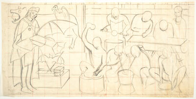 Diego Rivera, 'Untitled, study for the mural Pan American Unity, Golden Gate International Exposition, San Francisco', 1940
