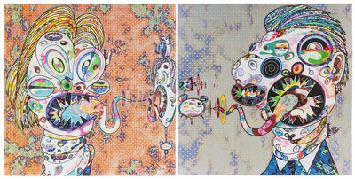 Takashi Murakami, 'Homage to Francis Bacon: Head of Isabel Hawthorne and Head of George Dyer (a pair)'