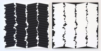 Vera Molnar, '4 Colonnes Torses en 2 couleurs A+B', 2011