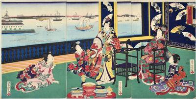 Utagawa Yoshitora, 'Elegant Fan Comparison', 1869
