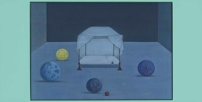 Xu Lei 徐累, 'Bed of the World - May (Five Moons) 世界的床-五月', 2019