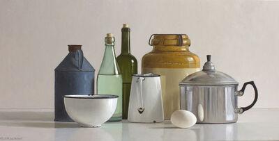 Willem de Bont, 'Still life with egg cooker and egg', 2019