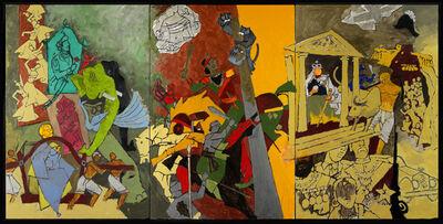 M. F. Husain, 'Three Dynasties', 2008-2011