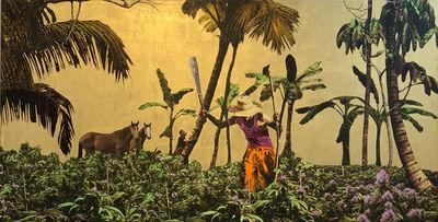 Carlos Mercado, 'Golden Plantation with Horses', ca. 2019