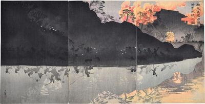 Kobayashi Kiyochika 小林清親, 'Our Elite Forces Capturing the Pescadores Islands in Taiwan', 1895