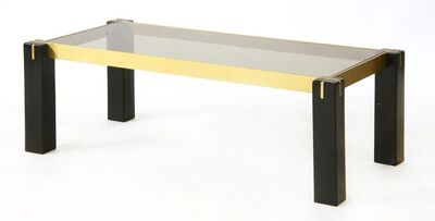 Gabriella Crespi, 'An Italian, ebonised, gilt metal and glass coffee table'