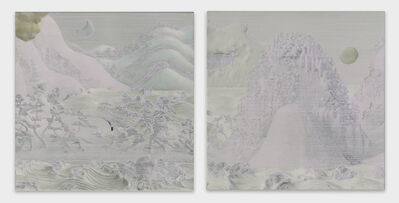 Junji Yamada, 'Sun Moon Lake Sansui Figure Folding Screen (16-1)', 2016