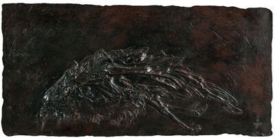 Leonard Baskin, 'Dead Crow (Horizontal Bird)'