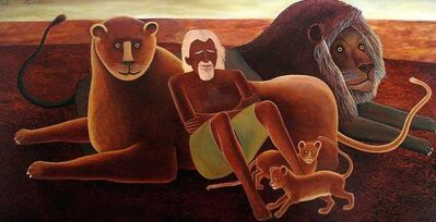 Bob Marchant, 'George  Adamson and his lions', 1980-1985