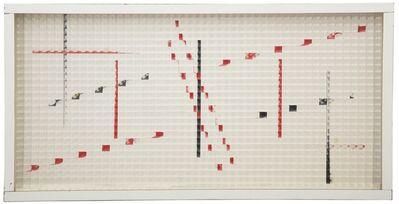 Grazia Varisco, 'Reticolo frangibile rosso/nero ', 1968
