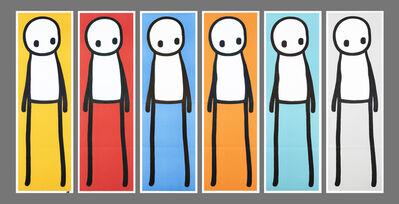 Stik, 'Standing Figure (Book) (Red, Blue, Yellow, Orange, Teal & Grey)', 2015