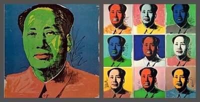 Andy Warhol, 'Mao Tse-Tung Castelli Gallery Fold-Out Announcement Card (Leo Castelli Mao)', 1972