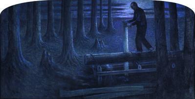 William Degouve de Nuncques, 'The Servants of Death (Nocturne)', ca. 1897