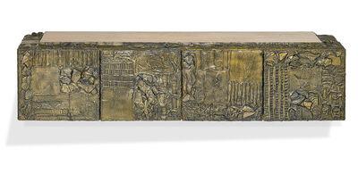 Paul Evans (1931-1987), 'Custom Sculptured Metal cabinet, New Hope, PA', 1970s