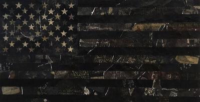 Cey Adams, 'American Flag (Black)', 2019