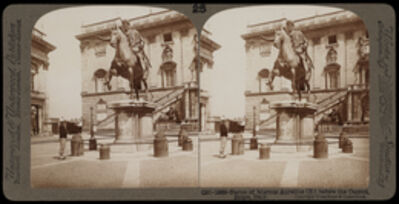 Bert Underwood, 'Statue of Marcus Aurelius before the Capitol, Rome', 1900