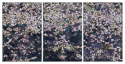 Rosemary Feit Covey, 'Blossoms (triptych)', 2021