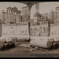Bert Underwood, 'Bas-reliefs of Trajan and Column of Phocas in the Roman Forum, Rome', 1900