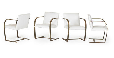 Ludwig Mies van der Rohe, 'Set of four Brno chairs', des. 1929