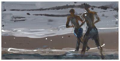 Rainer Fetting, '2 Läufer am Meer', 2015
