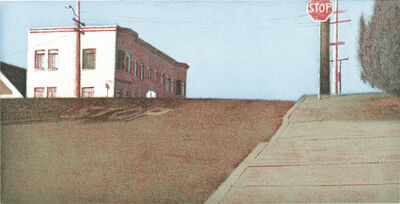 Robert Bechtle, 'Potrero Intersection–Blue Sky', 2002