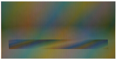 Carlos Cruz-Diez, 'Induction chromatique à Double Frequence sur 1,8 exempaires', 2015