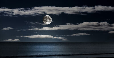 Bob Tabor, 'Seascape Moonlight'