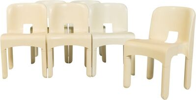 Joe Colombo, 'Six Universelle Stacking Chairs Model 4869'