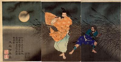 Tsukioka Yoshitoshi, 'Flute Player Triptych', 1883