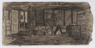James Castle, 'Untitled (Covered patio, silo)', n.d.