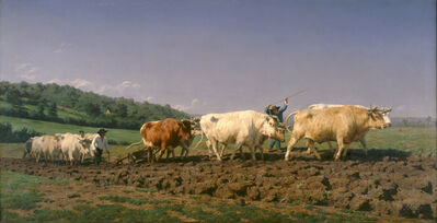 Rosa Bonheur, 'Plowing in the Nivernais: the Dressing of the Vines', 1849