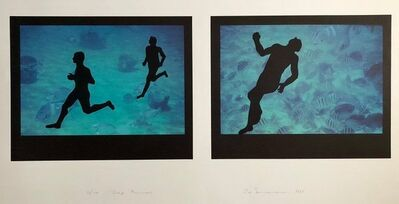 "Eve Sonneman, 'Large Diptych ""Deep runners"" Photograph Signed Surrealist Photo Lithograph', 1990-1999"