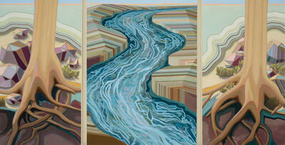 April Dawn Parker, 'Thirst Drove me Down the River (triptych)', 2019